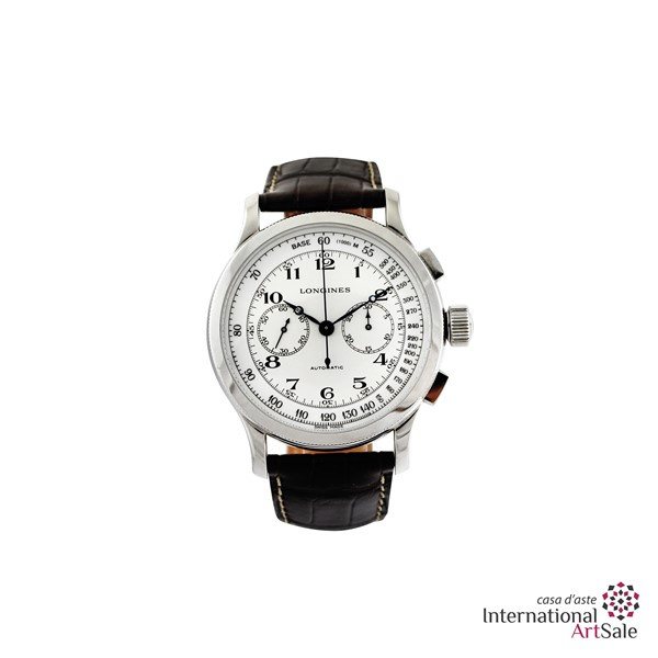 LONGINES - LINDBERG, ATLANTE VOYAGE WATCH, serie limitata, n° 219/500 - Ref. L2.639.4.23.2, anni 2000  - Asta Orologi - I - International Art Sale - Casa d'Aste