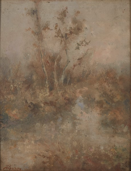 EMILIO BORSA : Paesaggio lacustre  - Auction Timed Auction Modern, Contemporary and 19th Century Paintings - International Art Sale - Casa d'Aste