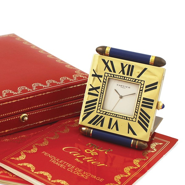 "Cartier - ""Must"" Desk Clock"