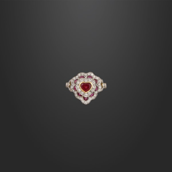 RUBY, DIAMOND AND GOLD RING  - Auction Important Jewelry - International Art Sale - Casa d'Aste